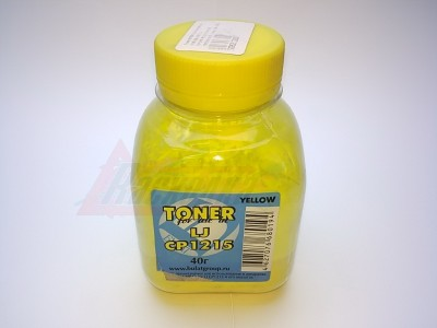 Тонер БУЛАТ для картриджа (CB542A)  HP СLJ CP1215/1515/1518/1525, CM1312/1415, Canon LBP 5050, желтый/yellow, 40 гр./флакон  [23820]