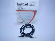 Кабель AUX WALKER [WCA-049] четырехконтактный черный (1м) пакет [26839]